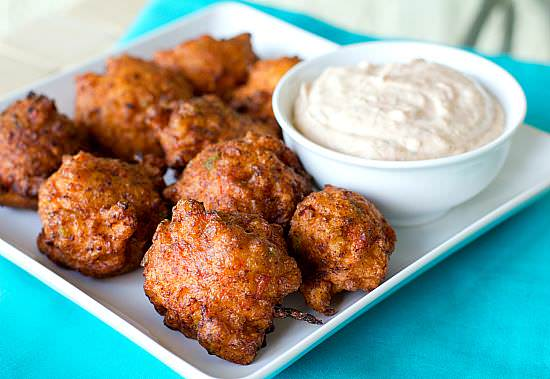 Conch Fritter with Dijon Mustard Sauce