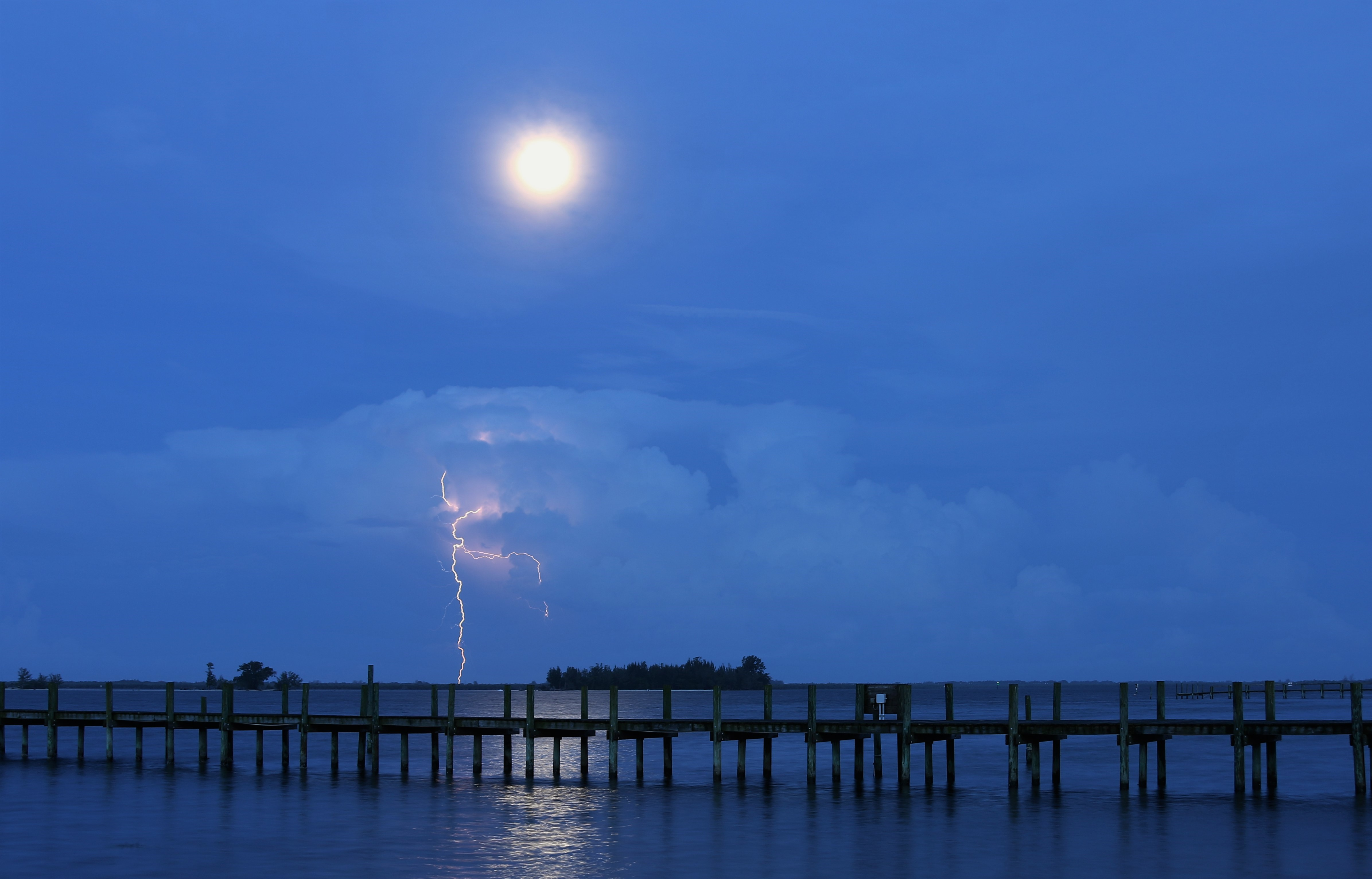 Lightning and the Moon