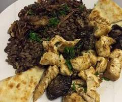 Chicken with Mushrooms and Lentils